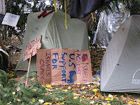 "Anti Israel sign in Occupy Portland's ""Sacred Place."" Photo by Citizen Journalist Bruce McCain."