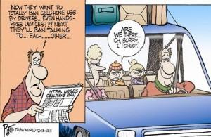 cell phone ban cartoon