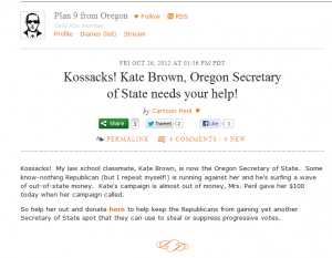 kate brown daily kos