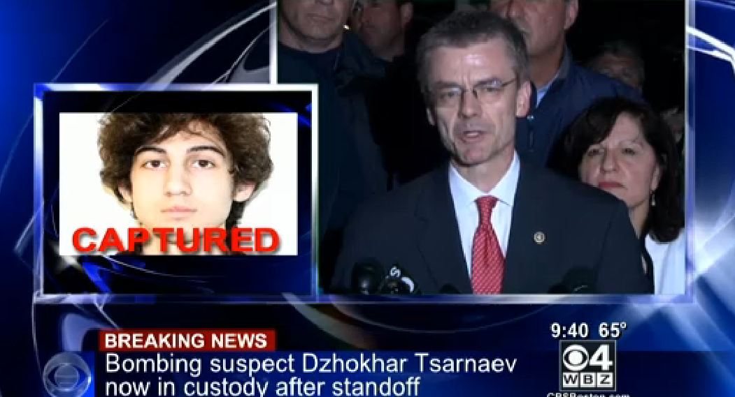 Boston Marathon suspect captured