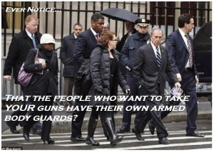 Guns Bloomberg with body guards meme
