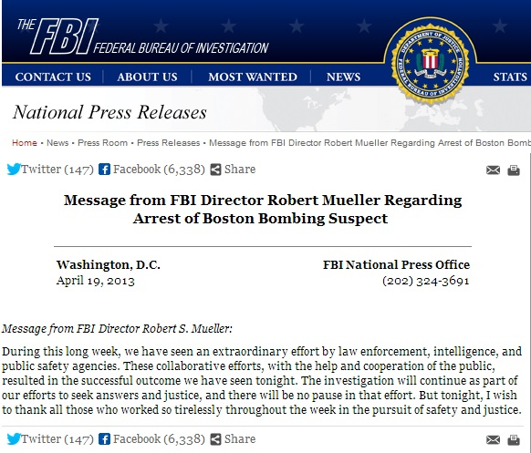 boston marathon fbi comment