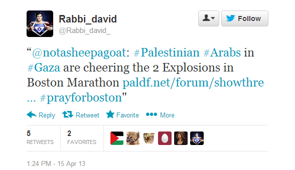 boston marathon hamas tweet