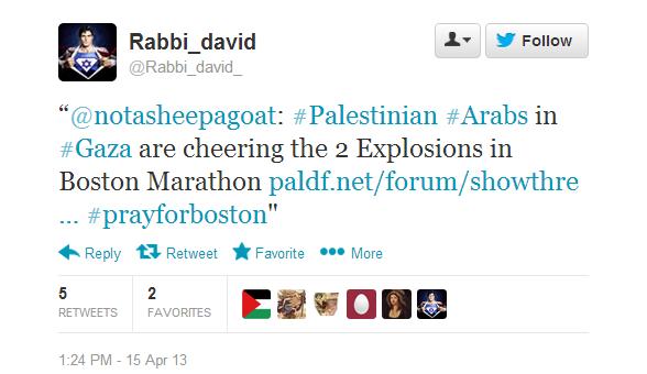 boston marathon hamas tweet