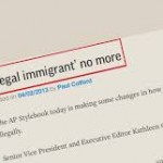 "AP politically pressured into dropping the legal term of art ""illegal"" alien."