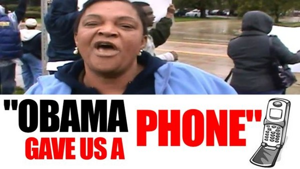 The ObamaPhone Lady: Coming to a border area near you.