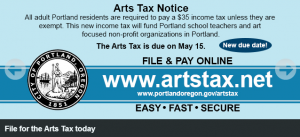 Arts tax logo
