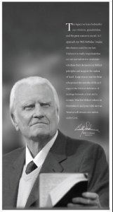 Billy Graham Election Message