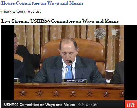 IRS Hearing Ways and Means