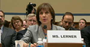 By making her speech today which amounted to testimony, Lerner arguable waived her right to take the 5th.