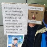 IRS PROTEST SIGN MASK