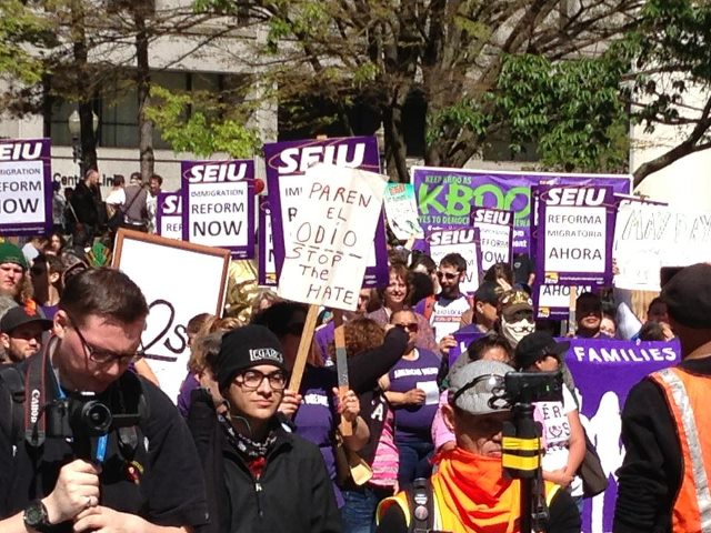 May Day 2013 SEIU purple shirts