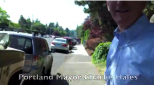 Mayor Charlie Hales, whose in charge of the Portland Police Bureau tells Laughing at Liberals to go ask his legal questions of Cease Fire.