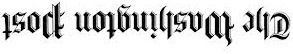 washington post upside down