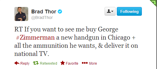 Brad Thor Offer to Zimmerman