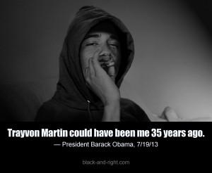 Funny Obama Trayvon 35 years ago