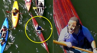 obama mask kayak