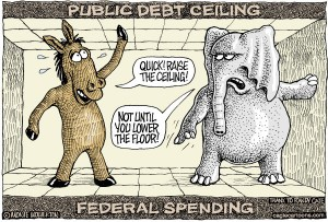 Obama may be manipulating the debt ceiling discussion to use as wedge issue for 2014 elections.