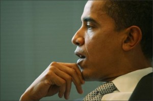 The President contemplates fundamentally transforming America. Photo by the Seattle PI