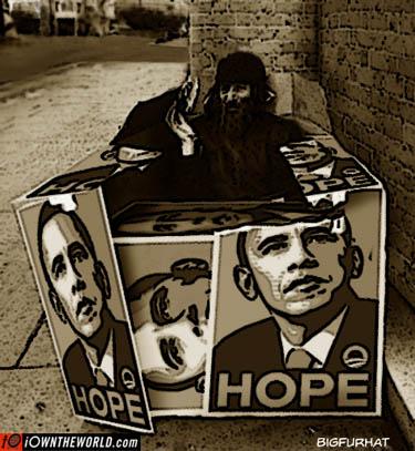 Homeless Man Living in Box