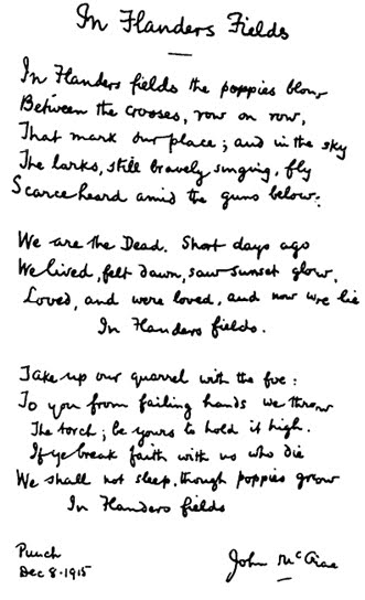 flanders field poem
