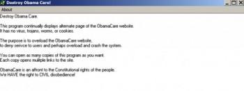 Obamacare hack message
