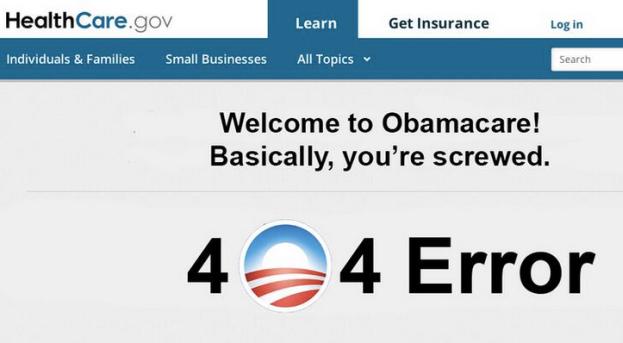 obamacare 404 error