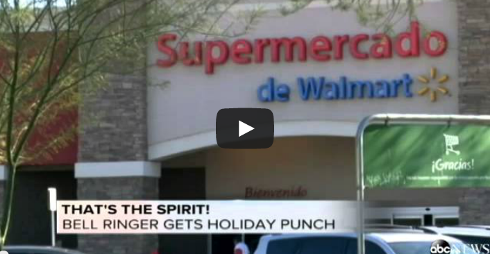 Arizona Walmart kettle bell ringer is slapped for failing to say Merry Christmas