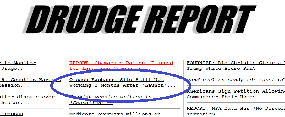 OrBamaCare makes Drudge