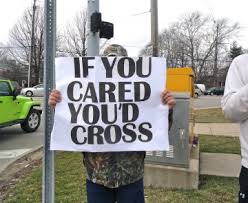 teacher strike if you cared you'd cross