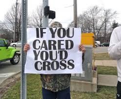 teacher strike if you cared you'd cross