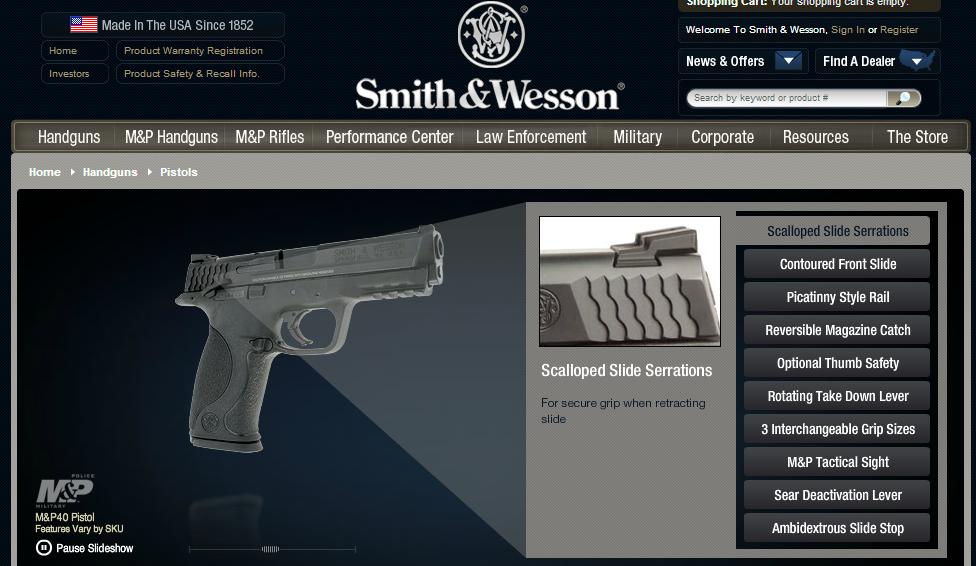 SW 45 pistol