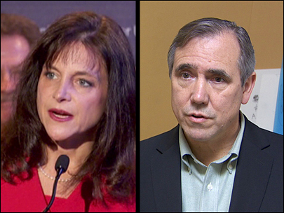 GOP nominee Dr. Monica Wehby and Sen. Jeff Merkley, D-Oregon.
