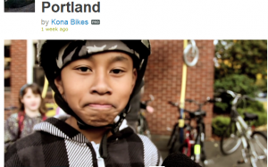 "Portland kid claims to ride bike to school to ""save polar bears"" in 2012 bicycle propaganda film."