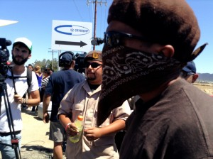 Murrieta Brown shirt mask