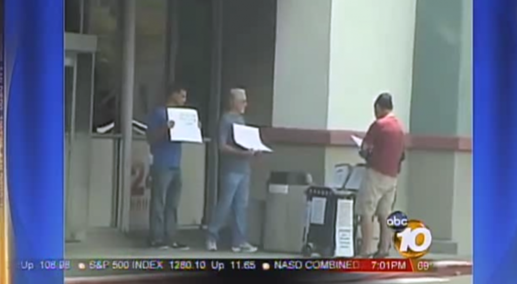 In 2011 union members picketed signature gatherer s in an effort to intimidate petition circulators and citizens trying to sign to put pension reform on the ballot.