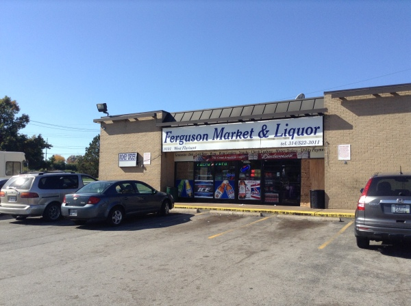 This is the Mini Mart where Michael Brown and his friend stole Swisher Sweets and then threatened and man handled the owner when he protested. Photo: VictoriaTaft.com Victoria Taft