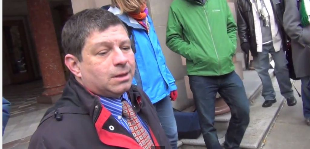 Steve Novick looks down his nose at Laughing at Liberals when he asks about a Portland protest fee. Image Credit: Laughing at Liberals
