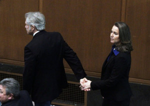 Kitzhaber and Cylvia Hayes before he took the oath of office in January. Image Credit: The Oregonian.