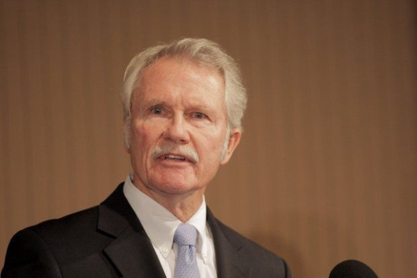 Kitzhaber is pictured at the City Club looking commanding. Photo Image: The Oregonian